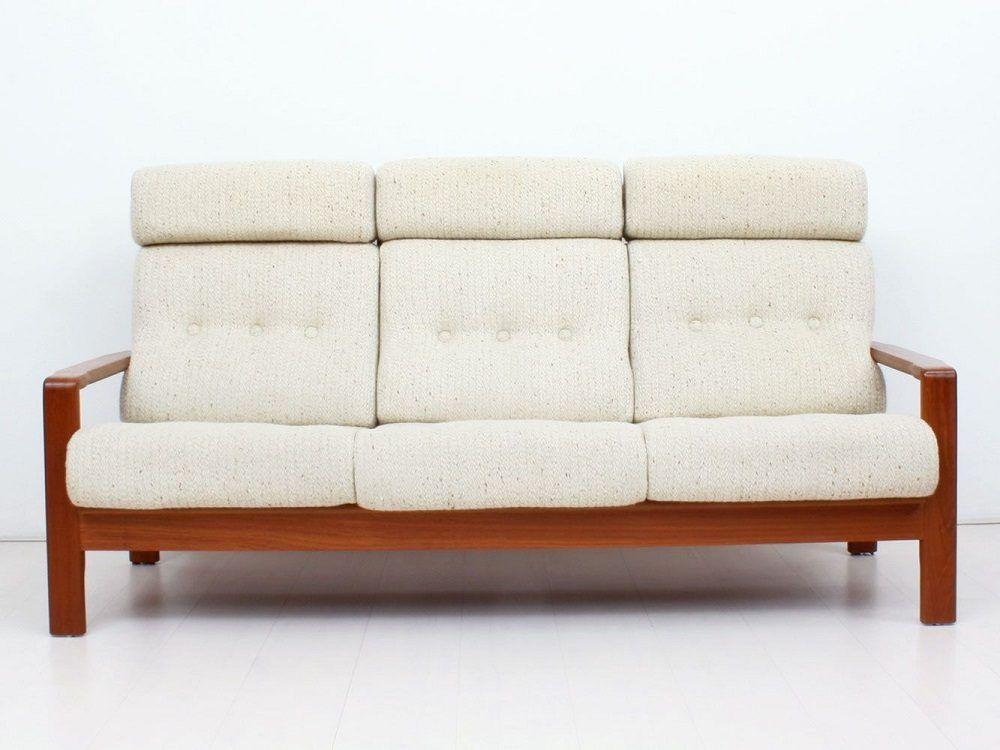 Sofá con tela de lana